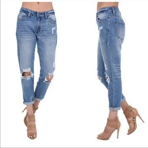 Denim - NEW♥️Best Travel Pants~Boyfriend Distressed Jeans-